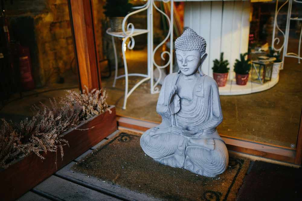Meditation myth - don't move. Sit still like a Buddha statue. Image by Anthony Fomin, Unsplash